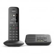 Bežični analogni telefon Gigaset C570A automatska sekretarica, telefoniranje slobodnih ruku, crne boje