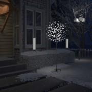 vidaXL Коледно дърво, 200 LED студено бeли, разцъфнала череша, 180 см