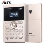 AIEK E1 (Gold) 1 Inch Ultra-thin Micro SIM Card Bluetooth GSM Mini Card Mobile Phone