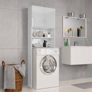 vidaXL Armário máq. de lavar 64x25,5x190cm aglomerado branco brilhante