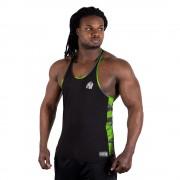 Gorilla Wear Sacramento Camo Mesh Tank Top - Black/Neon Lime - XXXL