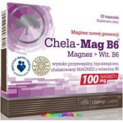 Chela-Mag B6(R) 30 db kapszula, kelátkötésű, szerves magnézium B6-vitaminnal - Olimp Labs