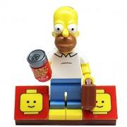 MinifigurePacks: Lego Simpsons Bundle (1) Homer Simpson Minifigure (1) Figure Display Base (2) Figure Accessory's (Buzz Soda Can - Briefcase)