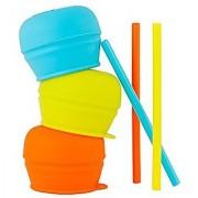 Boon Snug Straw 3Pk Blue/Orange/Green