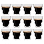 vidaXL Double Wall Latte Macchiato Glasses 12 pcs 280 ml