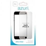 Azuri 2 x Flexibele Screen Protector voor Apple iPhone 6/6S transparant