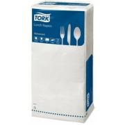 Szalvéta, 1/4 hajtogatott, 2 rétegű, 32,5x32,8 cm, Advanced, TORK Lunch, fehér (KHH187)