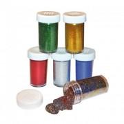 Playbox Glitter por, 6 szín, 20 g, 6 db, alapszínek
