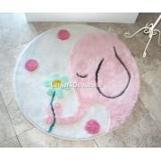Covoras baie 90cm, Alessia Home, Buyuk Fil - Pink