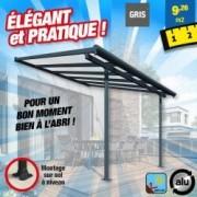 OUTIROR Toit-terrasse alu & polycarbonate - Elite 33 - gris