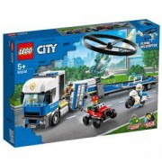 Конструктор Лего Сити - Полицейски превоз с хеликоптер, LEGO City Police 60244