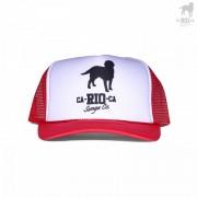 CA-RIO-CA Logotipo Two Toned Trucker Hat Red/White CRC-H1002