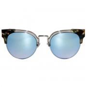 Occhiali da sole dhomy haltea silver-tortoise blue e mirror blue d00275