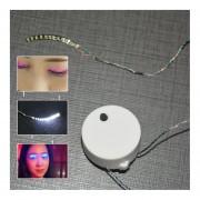 Eh Flashes LED Pestañas Pestañas Falsas Luminosas Para Traje De Fiesta-Blanco
