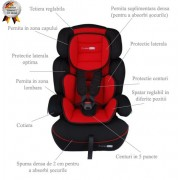 Scaun Auto Freemove Red