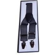 Mentiezi Y- Back Suspenders for Men(Black)