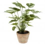 Bellatio flowers & plants Kantoor kunstplant anthurium groen in pot 50 cm