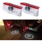 2 PCS LED Coche Puerta Bienvenido Logo Marca De Coches 3D Sombra Luz Para Volkswagen