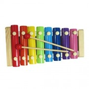 GreenTouch Wonderful Voice Multicolor Wooden Xylophone For Kids Musical Toy With 8 Notes Multi colour