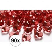 Geen 90 hart diamanten rood 2 cm