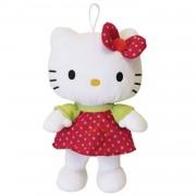 Jemini hello kitty knuffel polka meisjes rood 27 cm