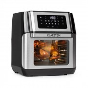 Klarstein AeroVital Fry, friteuză cu aer cald, 1500W, 10l, 9 programe, neagră/argintie (FRY3-AeroVital Fry)