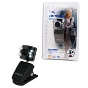 "Camera Web LOGILINK 640x480 300K, 30 fps, 6 LEDs, ""UA0072"""