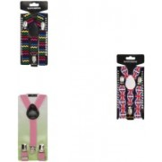Eccellente Y- Back Suspenders for Boys, Girls(Multicolor)
