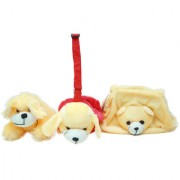 GoodEase Soft Toy Dog and Her With Baby Hand Plush Kids Animal Toy.