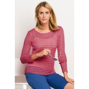 Capture Open Weave Knit - Pink