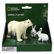 SET 3 FIGURINE - URS SI IEPURE POLAR - NATIONAL GEOGRAPHIC (NTS01024)