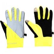 Běžecké rukavice Endurance Mingus neonově žluté XL