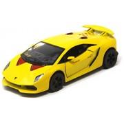 Shunkk™ Kinsmart Die cast Metal Vintage Lamborghini Sesto Elemento Diecast with Pull Back Mechanism (Yellow)