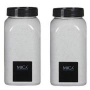 Mica Decorations Decoratie/hobby zand wit 2 kg