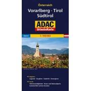 Wegenkaart - landkaart 06 UrlaubsKarte Tirol, Vorarlberg, Südtirol   ADAC
