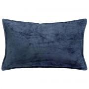 Miliboo Kissen aus Velours Blau 30 x 50 cm ALOU
