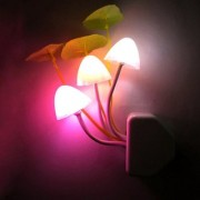 Sets of 3 LED Mushroom Night Lamp Wall Light Day Night Sensor Control Bed Lamp Bedroom Lamp Sets of 3