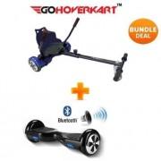 """Hoverkart & 6.5"""" Bluetooth Hoverboard Carbon Black Go Racer Bundle"""