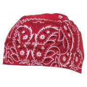 Chusta na głowę - Headwrap, czerwona z nadrukiem