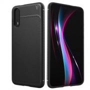 Lenuo Leshen Series Huawei P20 TPU Litchi Texture Dropproof Protective Back Cover Case (Black)