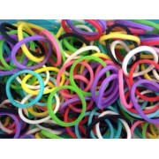 Loom Rubber Bands - 6000 Piece Mixed Color Rubber Band Refill Mega Value Pack with 192 S-Clips & 10 Hooks - 100% Compatible with all Looms