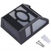 ER Sensor De Luz Solar Lámpara LED De Pared De Cerco Casa Camino Del Jardín Patio Escaleras -Negro