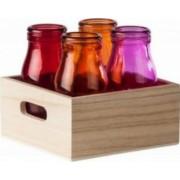 Set 4 Sticle Colorate Heinner 200 ML + Tava