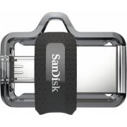 Memorie USB SanDisk Ultra Dual Drive MicroUSB/USB 3.0 16 GB Negru/Argintiu