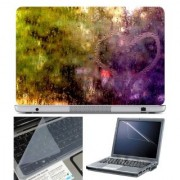 FineArts Laptop Skin Heart Water Drop With Screen Guard and Key Protector - Size 15.6 inch
