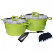 Set oale ceramica Barton Steel, 7 piese, Verde
