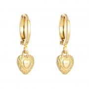 ComeGetFashion Hart oorbellen gold plated - Oorbellen