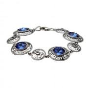 Bransoletka srebrna z kryształami Swarovskiego L 1693 : Kolor - Sapphire
