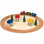 Bigjigs Wooden Railway My First Train Set (20 Pieces)