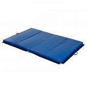 HOMCOM Foldable Gym Mat 183x120x5 cm-Blue